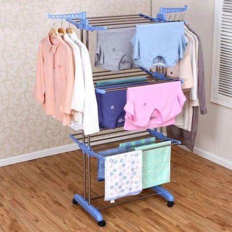 Напольная стойка сушилка для белья рубашек с крючками для вешалок