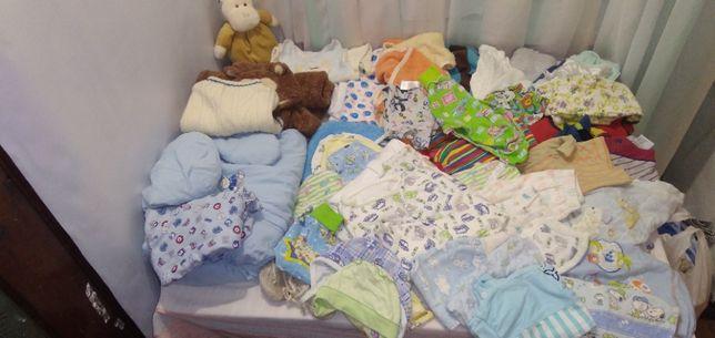 Пакет фирменных 49 вещей на новорожденног мальчика. От рождения до го