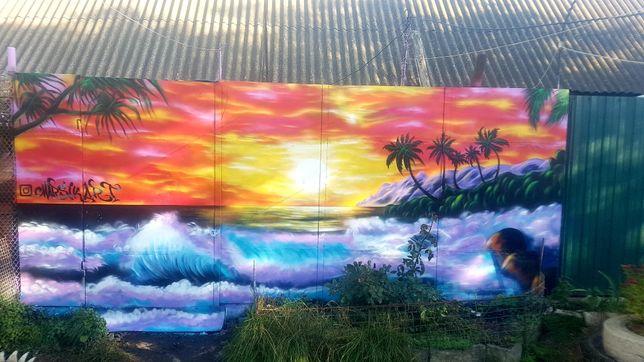 Художній роспис стін Фотозони Вивіски Логотипи Граффіті