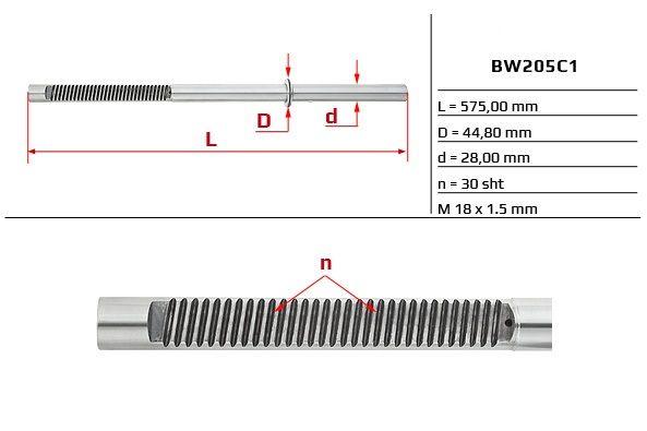 Listwa zębata przekładni kierowniczej BMW E36 E46
