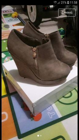 Nowe koturny buty