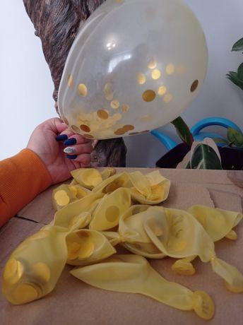 Balony konfetti złote