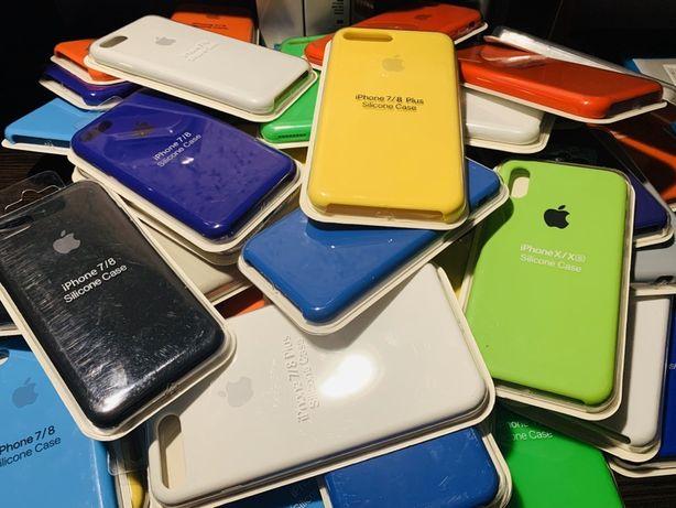 Silicone Case Iphone 7/8/+/plus/X/XS/XR/11/PRO/MAX Чехол Стекло