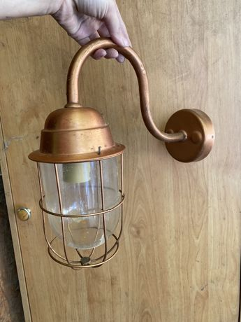 Kinkiet lampa oryginalna retro miedz zewnetrzna duza duzo sztuk ilosc