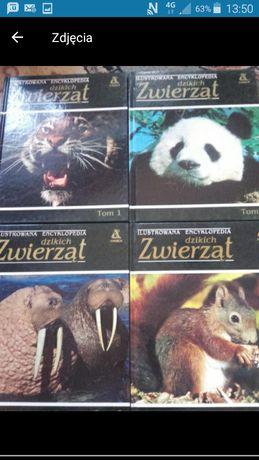 Ilustrowana encyklopedia dzikich zwierząt tomy 1-4