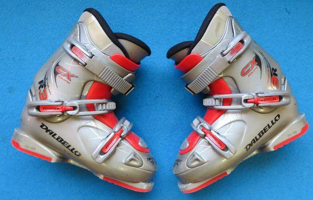 Buty narciarskie DALBELLO CXR 3 24,5 38,0 używane juniorskie dziecięce