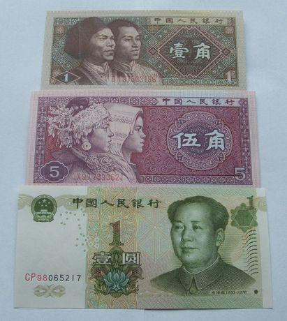 Banknoty CHINY - Z PACZKI BANKOWEJ - Zestaw Kolekcjonerski