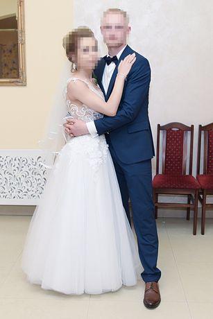 Sprzedam piękna sukienkę ślubna rozmiar 34