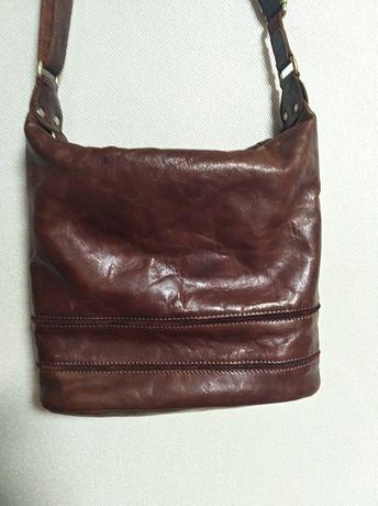 Кожаная сумка rowallan,  натуральная  кожа