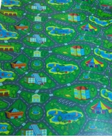 Іграшки, лего, ігровий килимок, дорога