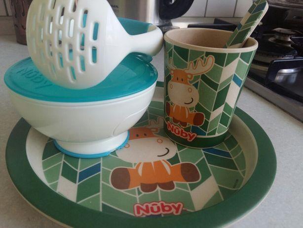 Набор посуды нуби nuby посуд дитячий бамбуковий