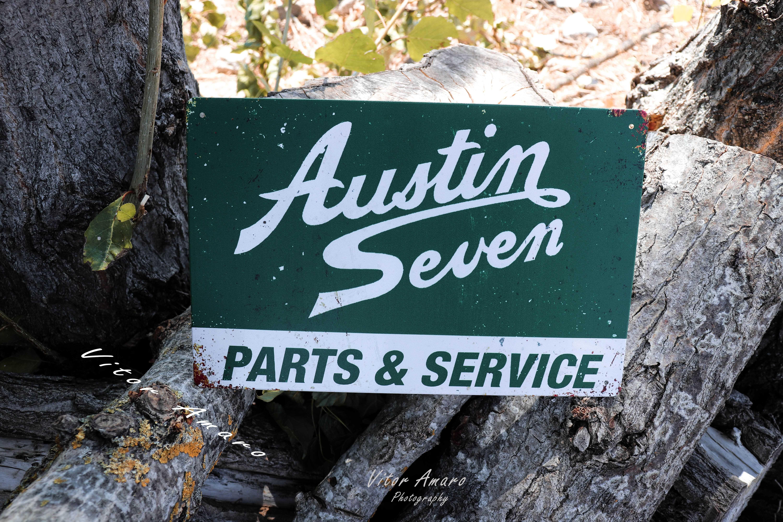 Placa/Chapa de Metal Vintage/Retro Austin Seven   NOVA