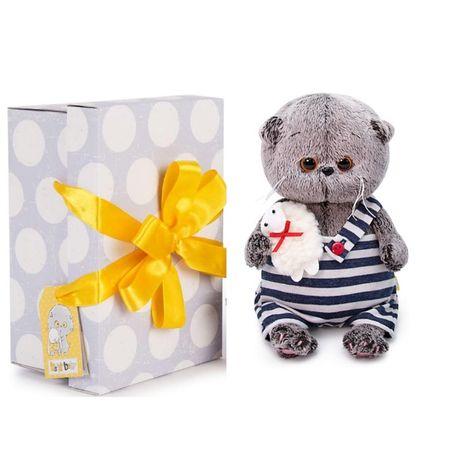 Мягкая игрушка Budi Basa Кот Басик Baby с овечкой, 20 см