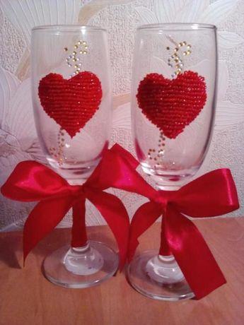 Свадебные бокалы под заказ