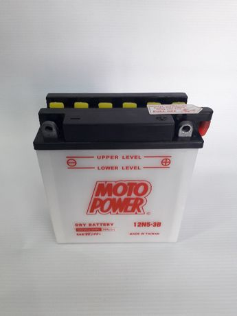 Akumulator 12N5-3B MOTO POWER 12V 5Ah 65A