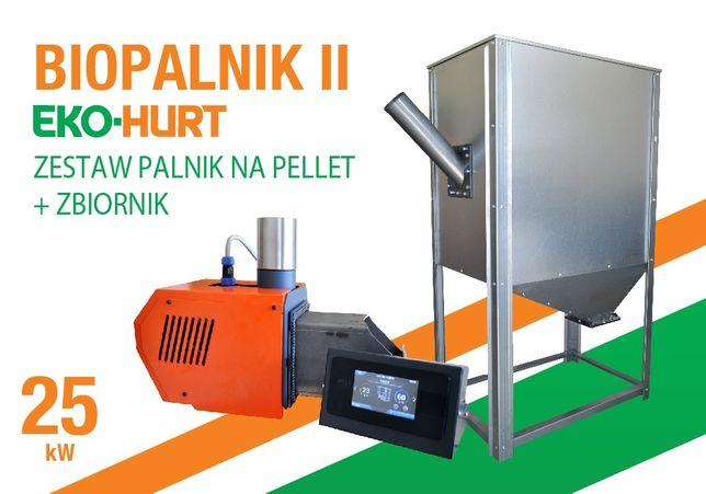 Kosz na pellet i palnik BIOPALNIK II 25 kW pellet PALNIK
