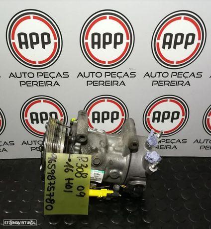 Compressor ar condicionado Peugeot 308 1.6 HDI referência 9659875780.