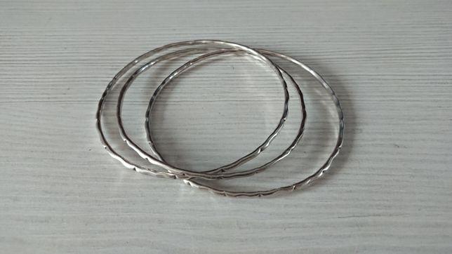 Bransoletka ze srebra próba 925 łączona potrójna idealna