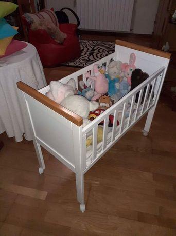 Miniberço bébé + colchão e roupa de cama