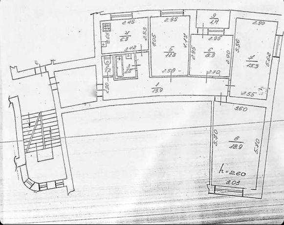 Продам квартиру 84кв.м.+65кв.м.горище = 96тис.
