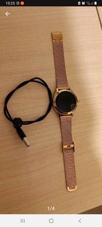 Smartwatch relógio moderno de aço inoxidável
