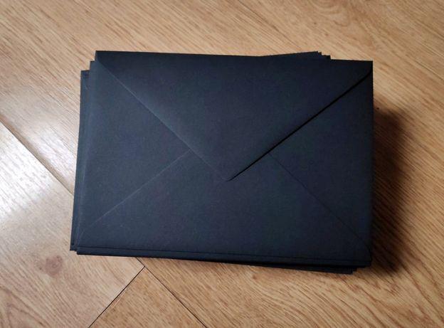 Ozdobne Czarne koperty nero C6 16x11,5cm 78sztuk (można kupić mniej!)