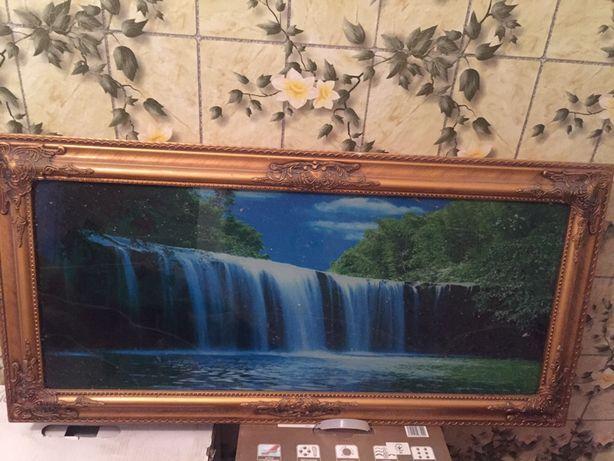 Картина водоспад з пультом біжить вода