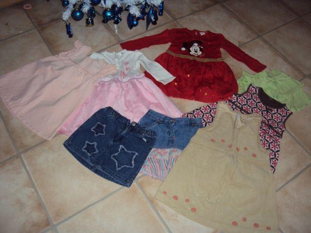 Paka ubrań dla dziewczynki 92 sukienki spódniczki