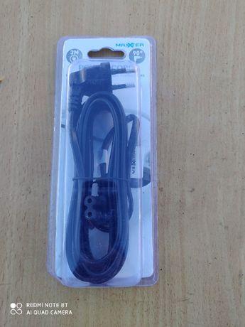 kabel zasilający lcd, kątowy c7 nowy, 4 szt