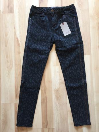 Spodnie dziewczęce, czarne marki Zara rozmiar 164