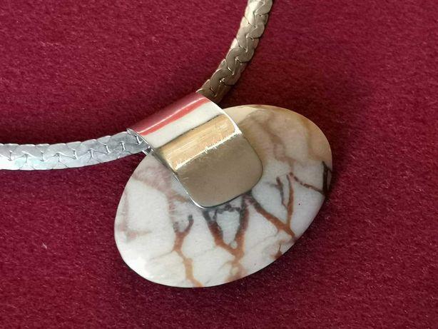 Piękny srebrny naszyjnik Art-deco 35 gr