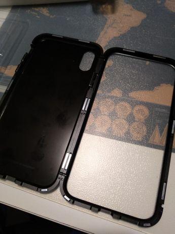 Capa alumínio magnética Iphone X
