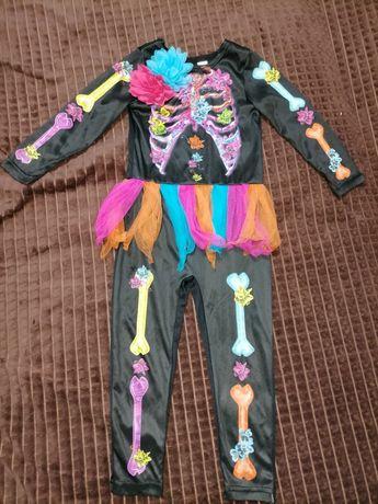 Карнавальный костюм девочка скелет 3-4 года