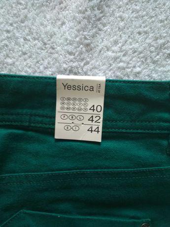 Spodnie damskie C&A Yessica rozmiar 40 zielone