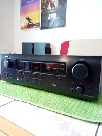 Denon DRA 500 AE z pilotem , amplituner stereo.