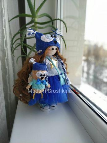 Вязаная кукла Совёнок