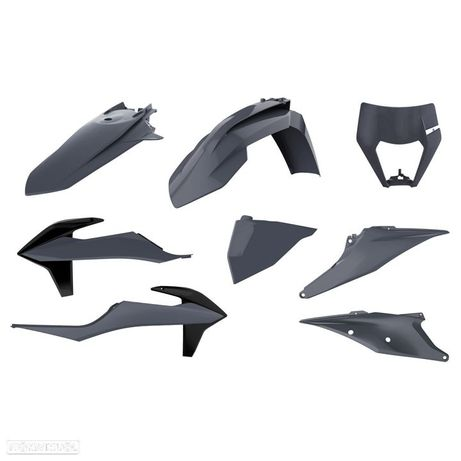 kit plasticos polisport cinza nardo ktm exc-f 250 / 350 / 450