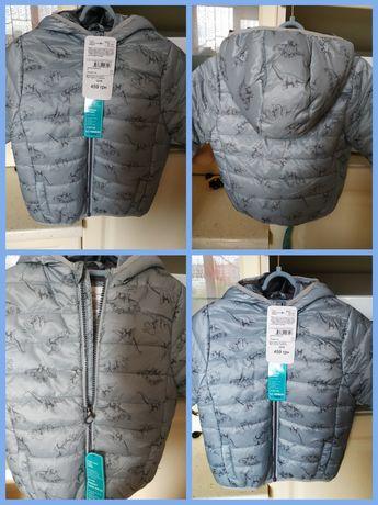 Новые, безумно крутые Деми куртки Дино LC Waikiki на 18-24 м -2 штуки