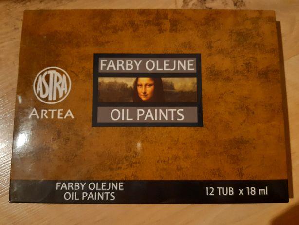 Astra Farby Olejne Artea 12 Kolorów 18 Ml