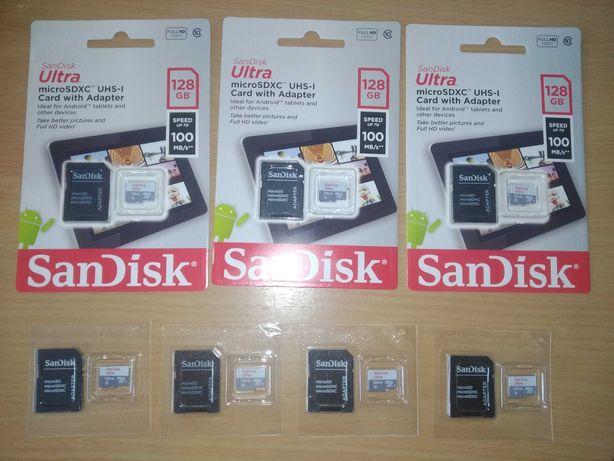 Карта пам'яті SanDisk Ultra 128 Gb microSDXC UHS-I Card with Adapter