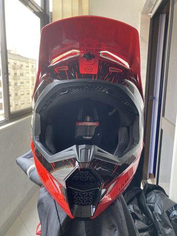 Capacete Integral Fly Racing Kinetic K120 XL NOVO (Downhill/Freeride)