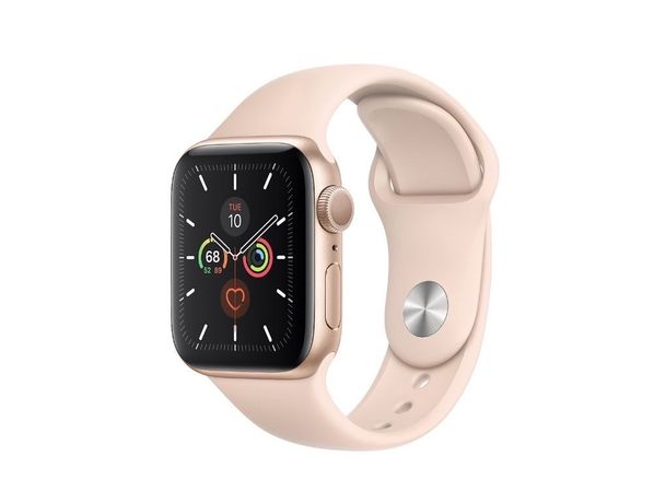 MWV72 Apple Watch Series 5 GPS 40mm Gold Aluminum Case with Pink Sand