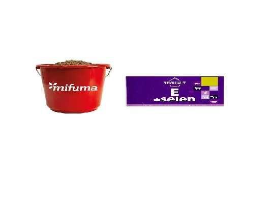 Trouwit E+Selen Organiczny 1litr+Mifuma LinamixPferd dla koni 7,5kg