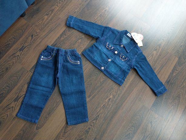 Katana spodnie jeans dla dziewczynki rozmiar 86/92