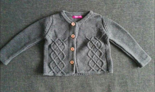 Sweterek zapinany na guziki rozmiar 62 cm HEMA