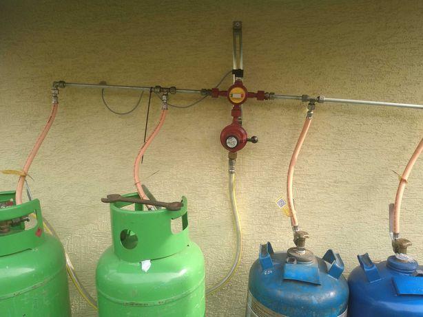 System podłaczenia do 4 butli z gazem
