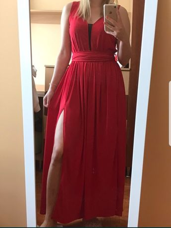 Sukienka długa maxi czerwona M/L