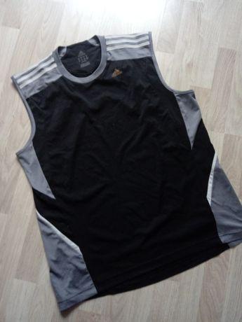 Czarny szary bezrękawnik sportowa bluzka bez rękawów Adidas XL