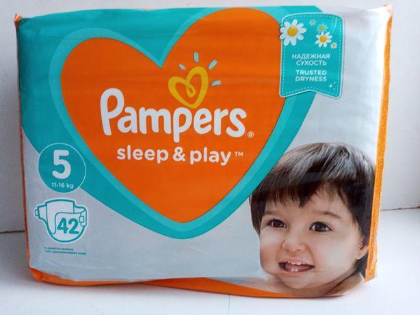 Подгузники Pampers Sleep & Play Размер 5 (Junior) 11-16 кг, 42 шт