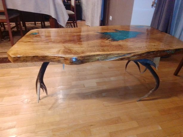ława, stolik dębowy